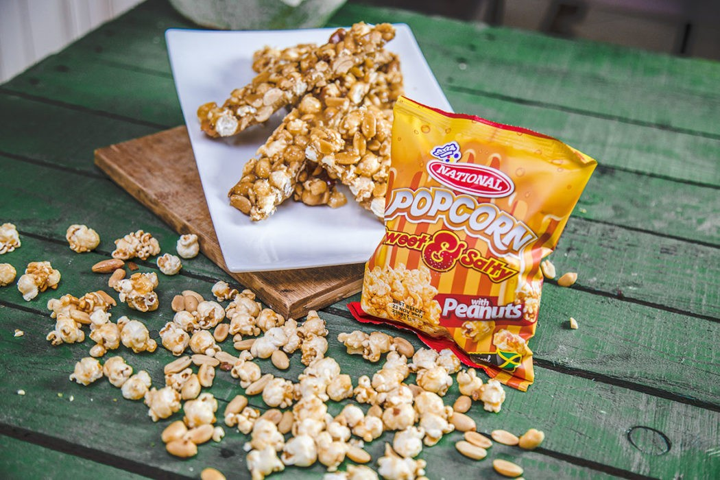 Sweet and Salty Popcorn Peanut Brittle